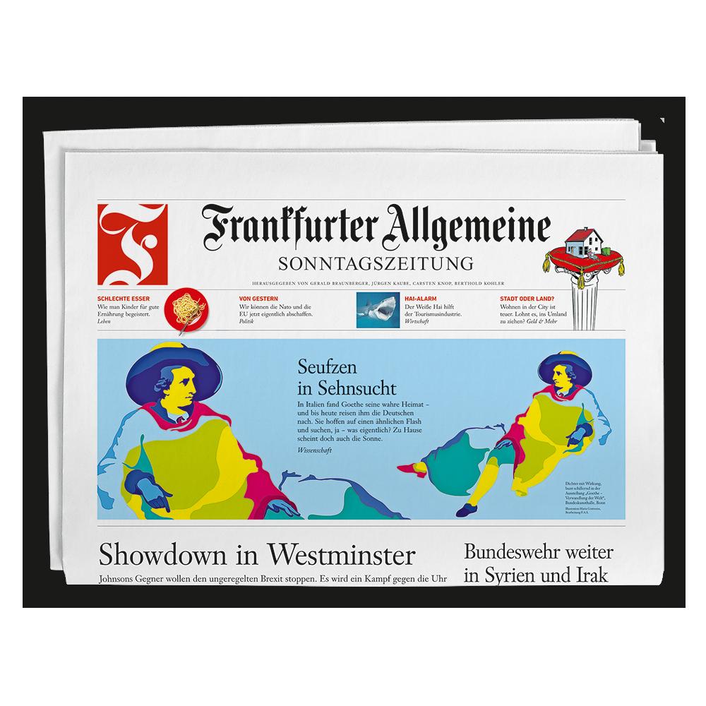 Frankfurter Allgemeine Sonntagszeitung Titelseite Packshot image number null